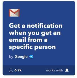 Automatización con ifttt gmail2